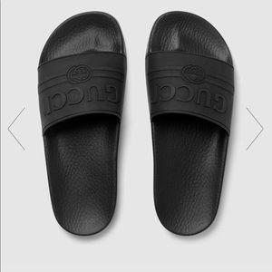Black Gucci Slides